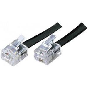Telefonní kabel, RJ11 konektor - RJ11 konektor, 2m, sáček