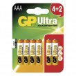Baterie GP Ultra Alkaline R03 (AAA), 4+2 ks v blistru