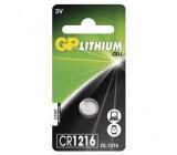 Lithiová knoflíková baterie GP CR1216, 1 ks v blistru